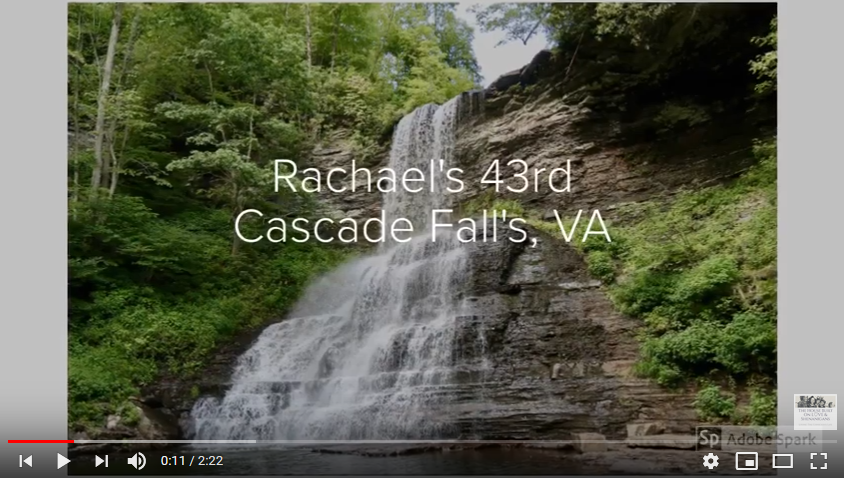 At Home with the Bostons: Rachael's 43rd at Cascade Falls, VA